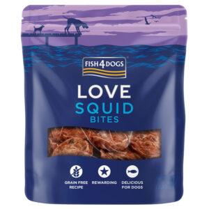Przysmaki dla psa Fish4Dogs Squid Bites - smakołyk z Kałamarnic